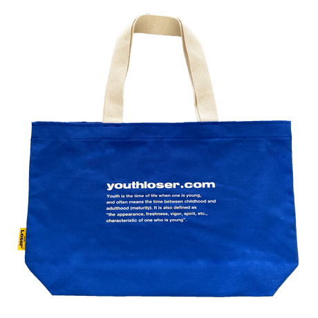 1997 BOXLOGO AND YOUTHLOSER.COM BLUE TOTE BAG