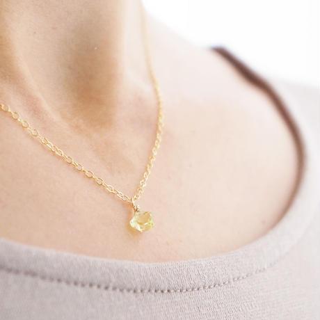 K14gf star lemon quartz necklace