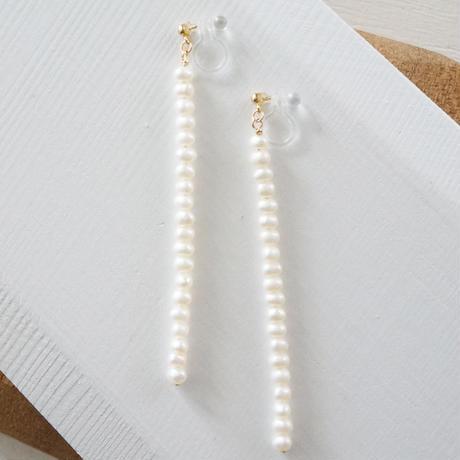 K14gf freshwater pearl long イヤリング