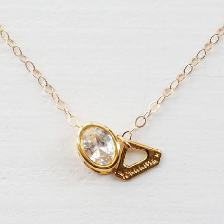 K14gf oval cut Qz necklace ♥