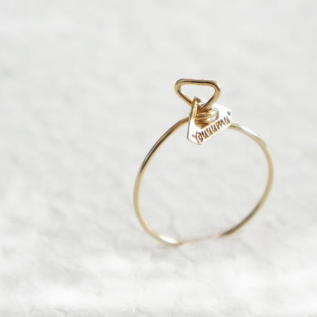 【K10 】 diamond shape ring ・by YouuumuJewelry*