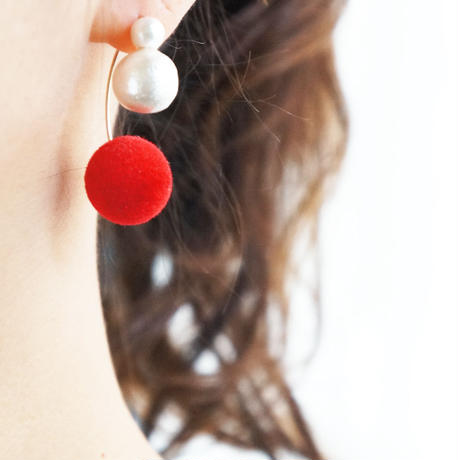 K14gf swing bonbon pierce Red