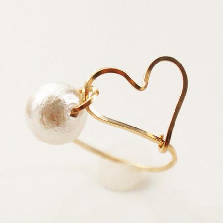 K14gf heart ring order