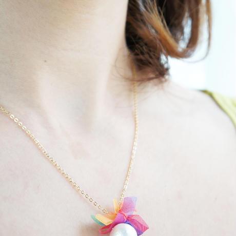 rainbowflower necklace