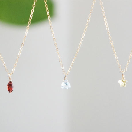 K14gf sky blue topaz necklace
