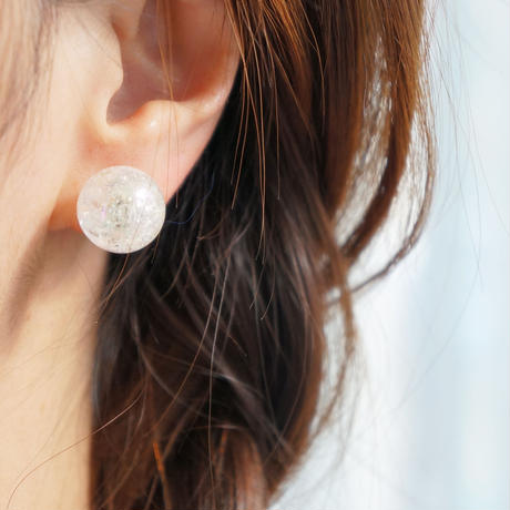 cottonpearl×auroraball earring