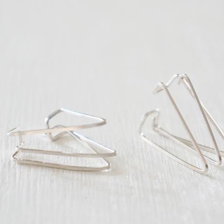 silver930 triangle イヤーカフ