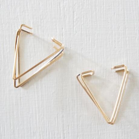 K14gf triangle イヤーカフ