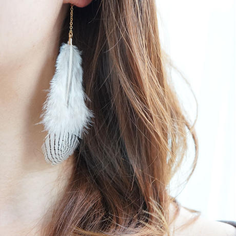 stripe feather pierce