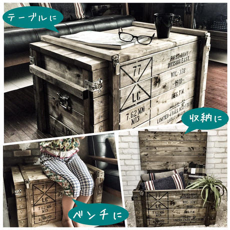 3WAYコンテナベンチBOX Mサイズ(A3ポスター付き)