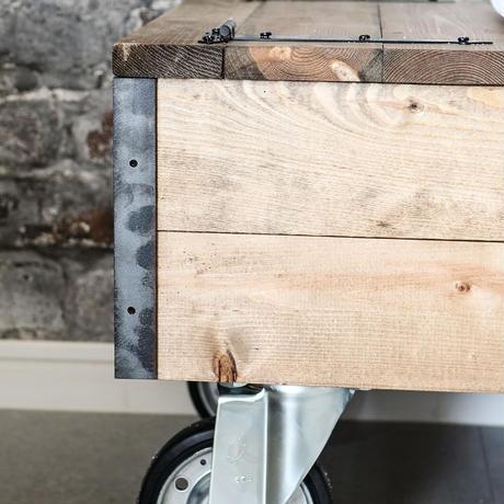 ゆぴのこさん家の収納型カートテーブル(A3パネル付き)