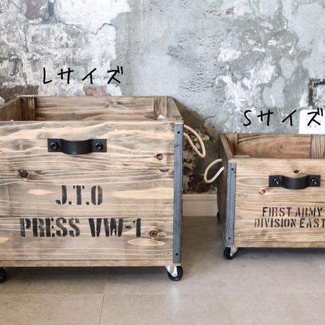 インダストリアルなガラゴロ木箱Sサイズ(A5ポスター付き)