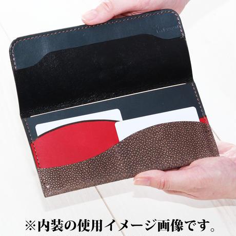 ブラック・ネイビー《薄長財布:ヘルメース》
