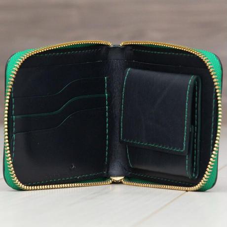 グリーン《ファスナー折財布:ロードストン》