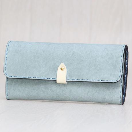 ライトブルー × オフホワイト《長財布:オリエンタル》