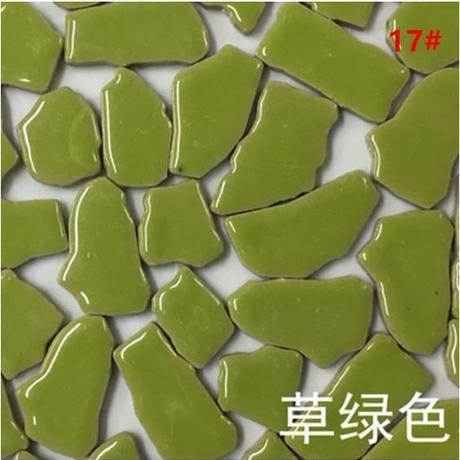 クリエイティブセラミックモザイクタイル DIYに最適な手作り装飾材料_単色100g