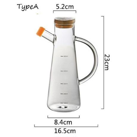 透明ガラス オイルボトル スケール 耐熱 Lecythus キッチンツール 醤油入れ 容器