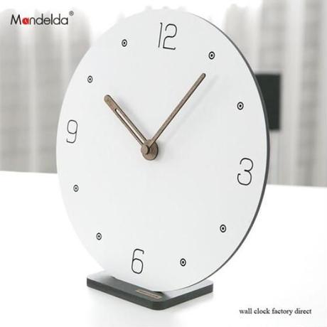 白い壁時計 モダンなデザイン クリエイティブ サイレント 寝室の壁時計_29.5cm