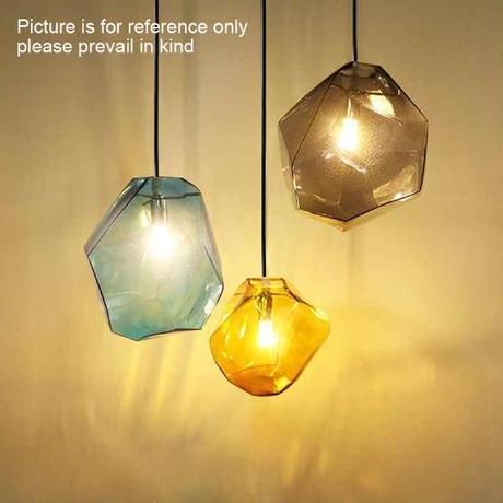 カラフルなガラスペンダントランプ  LED シーリングライト_Sサイズ