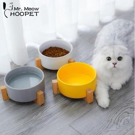 スタッキングもできる★猫用・犬用ペットフードボウル _3色から選べます