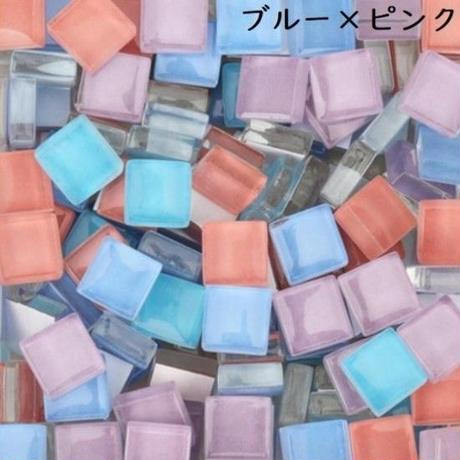 高品質ガラスを使用したモザイクタイル DIYに最適な手作り装飾材料_選べる10色 300個セット