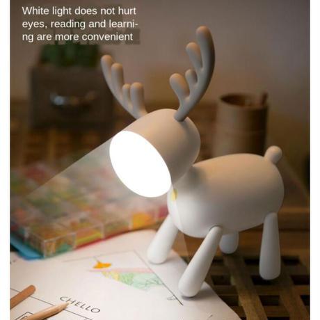 ヘラジカ型 led デスクランプ USB 夜の光 デスクランプ テーブルランプ★