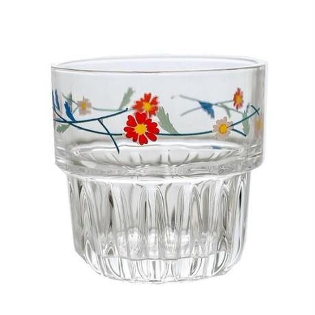 どこか懐かしい😊ヒナギク模様のグラス 258ml セットで使ってもおしゃれなグラス