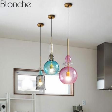 北欧 ステンドグラス ペンダントライト Led ロフト キャンディー 照明器具 ダイニングルーム キッチンの家の装飾器具