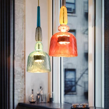 北欧 カラフルなキャンディガラスペンダントライト モダンなデザイン キッチン レストラン バー カフェ マカロンライト