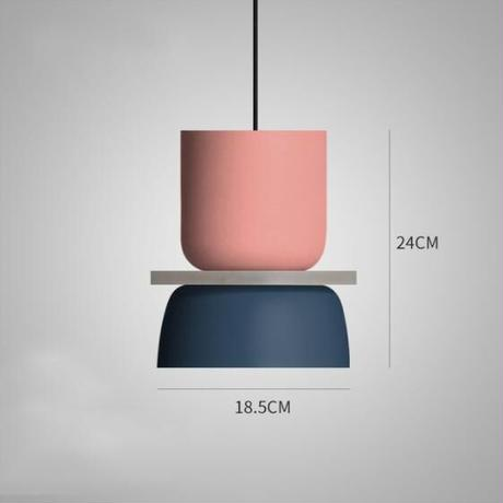 モダンなデザイン マカロンペンダントライト led E27 鉄アート ダイニングルーム キッチン サスペンション 照明器具 リビングルーム ベッドルーム_18.5cm×24cm