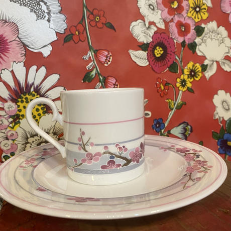 FINE BONE CHINA NIKKO コーヒーカップ梅