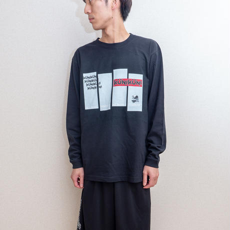 KUNIKUNI  Glitch Panda Long Sleeve Tshirt