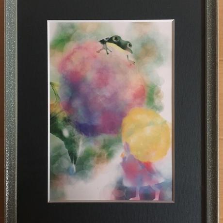 インテリア絵画「虹色の花」