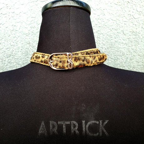 Leopard Belt Choker