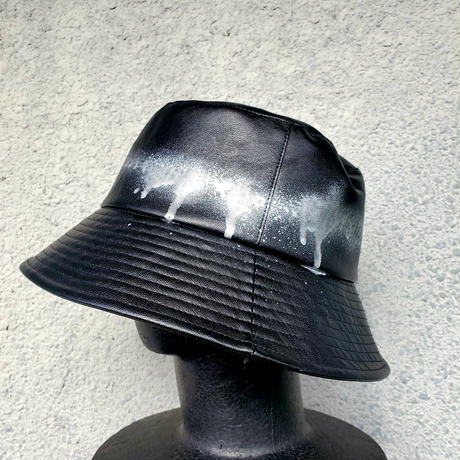 Leather Bucket hat(silver)