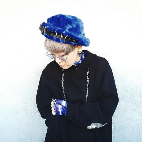 【ARTRICK×ニュリカデリック】Fur D.Belt Hat (blue)