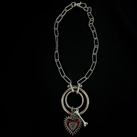 Heart&Bone Ring Necklace