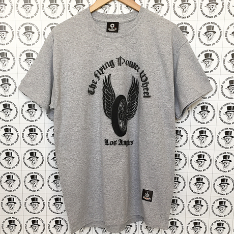 yuf vintage   the  flying  power wheel  T-shirt