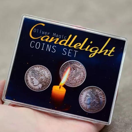 モルガンのフリッパーコイン「キャンドルライト・コインセット」【C0004】Candlelight Coins Set (Morgan Gimmick) by Oliver Magic