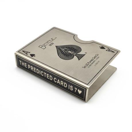 スチール・バイスクル・カード・プロテクター(シルバー)【G0380】Steel Bicycle Card Protector (Silver)