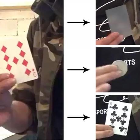 魔法のような幻想イリュージョン「ビジュアルチェンジカード」/Visual Change Card by J.C Magic