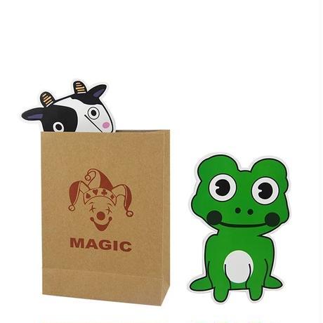 《お取り寄せ》ミニ・マジックカウ&フロッグ【Y0055】Magi Cow and Frog