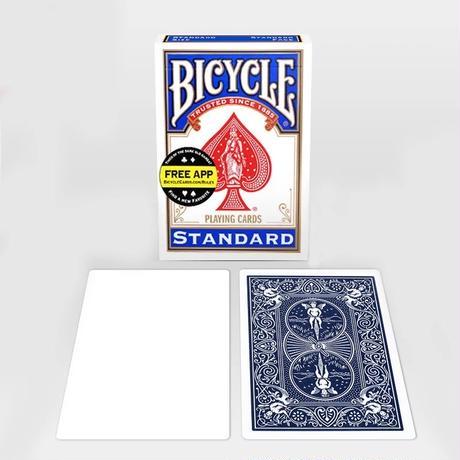 表側が白いカード「ブランク・フェイス・デック」Blank Face Bicycle Cards
