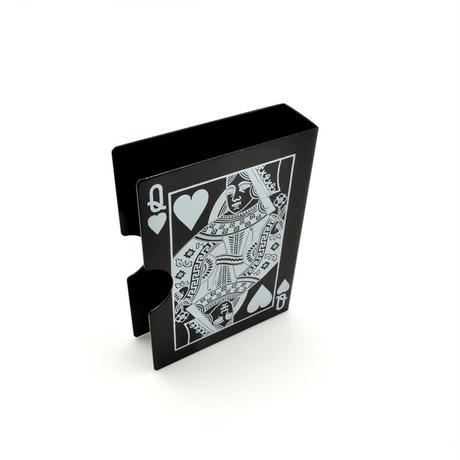 バイスクル・カード・プロテクター(ブラック)【G0609】Bicycle Card Protector Aluminum - Prediction (Black)