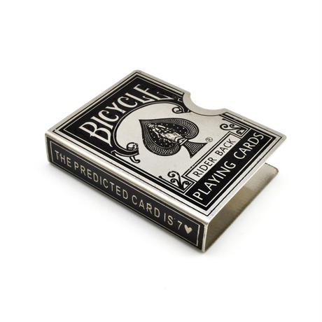 スチール・バイスクル・カード・プロテクター(エンジェル・シルバー)【G0384】Steel Bicycle Card Protector (Angel Silver)