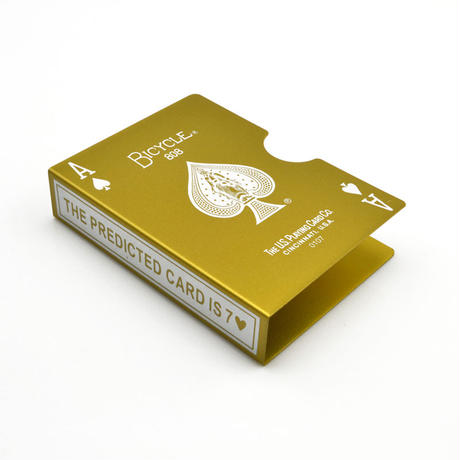 スチール・バイスクル・カード・プロテクター(ゴールド)【G0715】Steel Bicycle Card Protector (Glod)