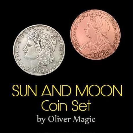 古典のグレードアップ版『サン・アンド・ムーン』【C0006】Sun and Moon Coin Set by Oliver Magic