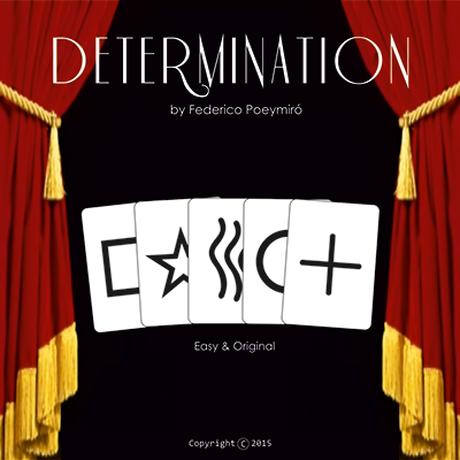 ディターミネイション【M56044】Determination (Gimmicks & DVD) by Federico Poeymiro
