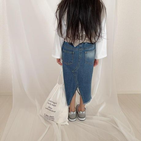 【即納】ダメージマキシスカート