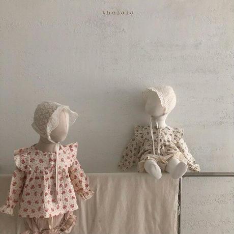 【ご予約】ベビーフラワーブラウス+ブルマセット